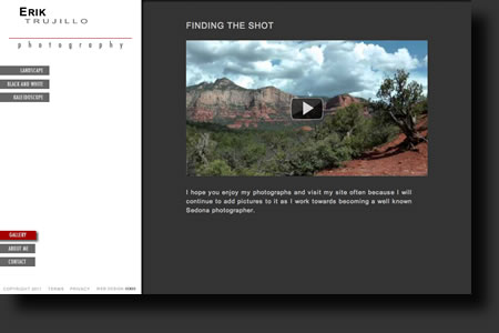 Erik Trujillo Photography website design - web image 3 - by Sedona AZ Website Design Company IIIXIII