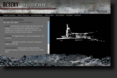 Desert Modern website design - web image 1 - by Sedona AZ Website Design Company IIIXIII