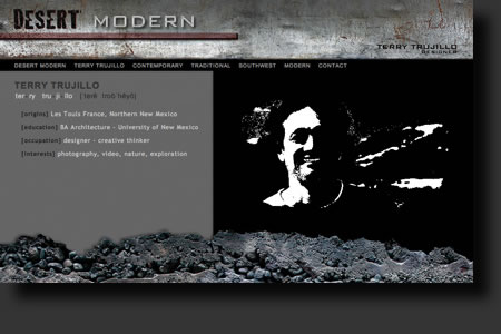 Desert Modern website design - web image 2 - by Sedona AZ Website Design Company IIIXIII