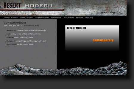 Desert Modern website design - web image 3 - by Sedona AZ Website Design Company IIIXIII