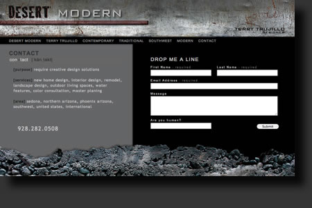 Desert Modern website design - web image 6 - by Sedona AZ Website Design Company IIIXIII