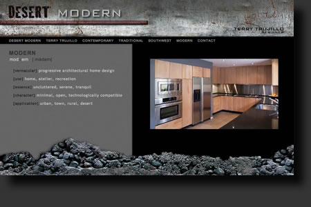 Desert Modern website design - web image 5 - by Sedona AZ Website Design Company IIIXIII